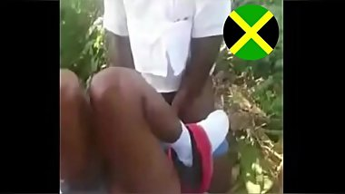 Jamaican School Students Caught Fucking In Bush / School Girl know How To Ride Dick