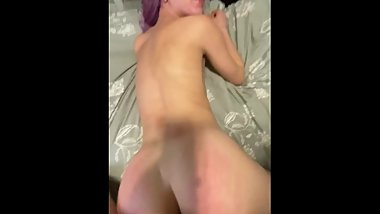 Amateur couple having passionate sex (cum on face)